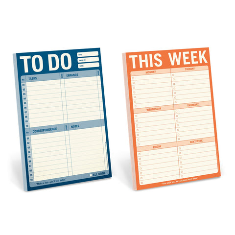 Knock Knock To Do List Lover's Notepad Set