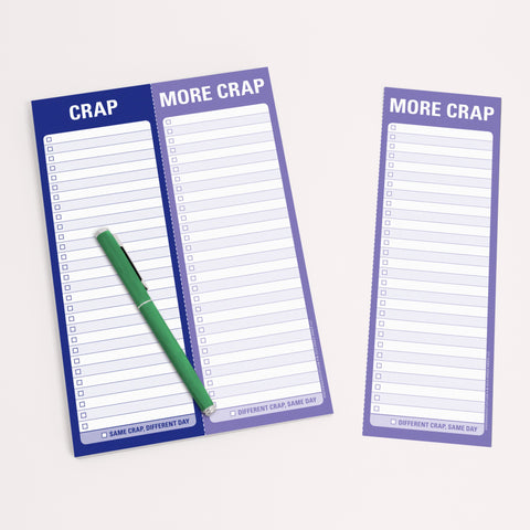 Knock Knock Crap / More Crap Perforated Notepads