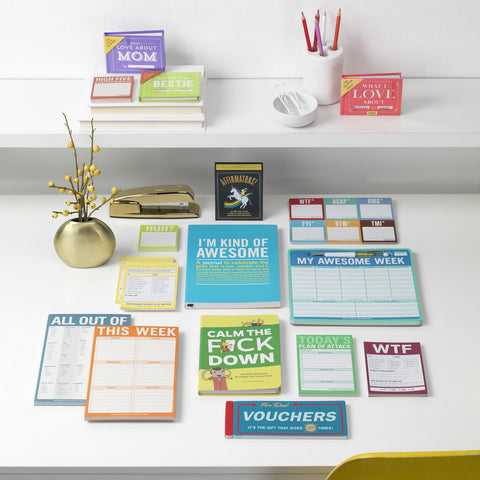 Knock Knock Stuff Bestselling Nifty Notes Classic Pads and Mousepads