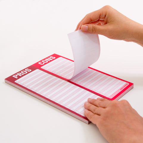 Knock Knock Pros / Cons Perforated Pad