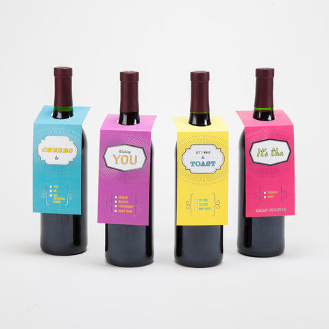 Knock Knock Make a Toast Wine Gift Tags