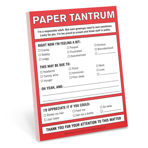 Knock Knock Paper Tantrum Nifty Notes | KnockKnockStuff.com