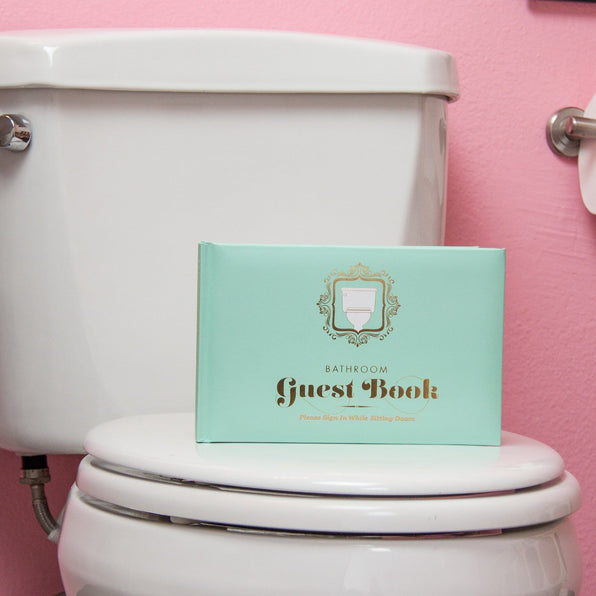 Bathroom Guest Book by Knock Knock | KnockKnockStuff.com