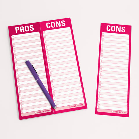 Knock Knock Pros/Cons Perforated Notepads