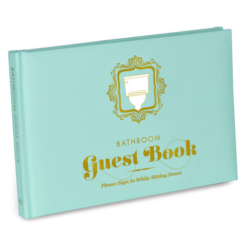 Knock Knock Bathroom Guest Book