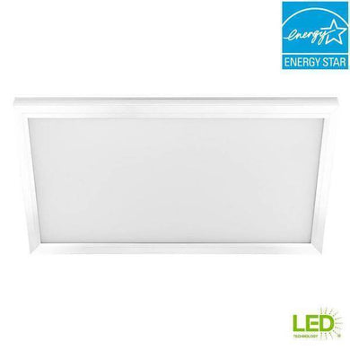 1 ft. x 2 ft. 23-Watt White Integrated LED Edge-Lit Flat Panel Flushmount Damaged Box-bay & strip lights-Tool Mart Inc.