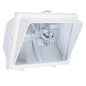1-LAMP WHITE OUTDOOR FLOOD LIGHT Damaged Box-outdoor lighting-Tool Mart Inc.