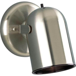 1-Light Brushed Nickel Spotlight Fixture with On/Off Switch - Damaged Box-bay & strip lights-Tool Mart Inc.