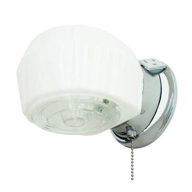 1-Light Chrome Bath Light Damaged Box-bay & strip lights-Tool Mart Inc.