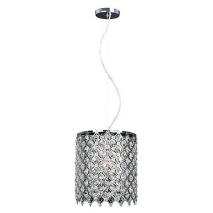1-Light Crystal and Chrome Chandelier Damaged Box-Lighting-Tool Mart Inc.
