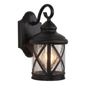 1-Light Exterior Lantern in Black Finish Small Size Damaged Box-outdoor lighting-Tool Mart Inc.