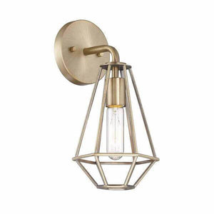 1-Light Old Satin Brass Wall Sconce Damaged Box-sconces & wall fixtures-Tool Mart Inc.
