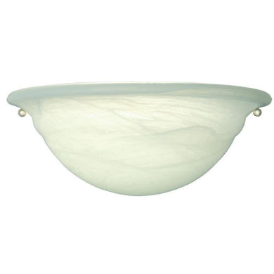 1-Light White Wall Sconce with Faux Alabaster Step Shade Damaged Box-sconces & wall fixtures-Tool Mart Inc.