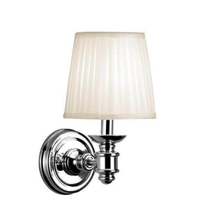 1- White Pleated Light Chrome Wall Sconce Damaged Box-sconces & wall fixtures-Tool Mart Inc.