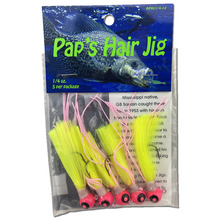 1/4 oz. Pap's Hair Jig 5 Pack - Pink Head/Yellow Tail