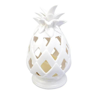 10.6 in. Battery Powered Integrated LED White Tabletop Pineapple Outdoor Patio Light Damaged Box-floor & table lamps-Tool Mart Inc.