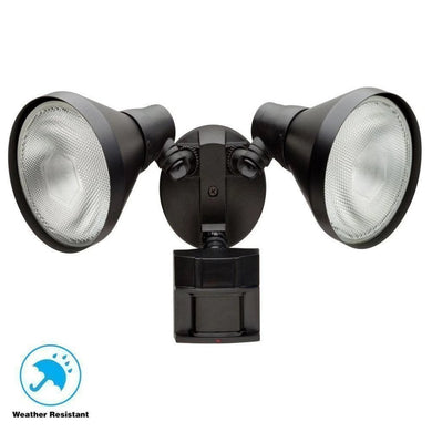 110 Degree Black Motion Activated Outdoor Flood Light Damaged Box-security & motion sensor lights-Tool Mart Inc.