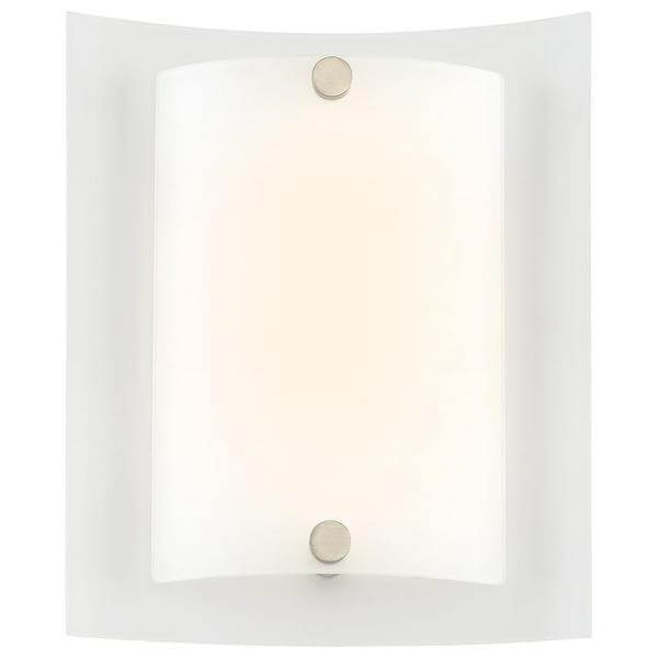 12-Watt Brushed Nickel Integrated LED Sconce Damaged Box-sconces & wall fixtures-Tool Mart Inc.
