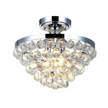 13 in. 4-Light Chrome Semi-Flush Mount with Clear Crystal Balls Shade Damaged Box-bay & strip lights-Tool Mart Inc.