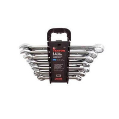 14 PC Combination Wrench Set (SAE/Metric) Tekton-wrenches & wrench sets-Tool Mart Inc.