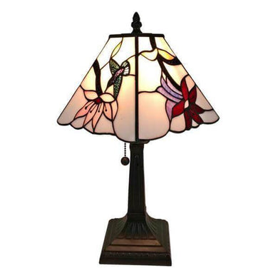 15 in. Tiffany Style Multicolored Mission Table Lamp Damaged Box-floor & table lamps-Tool Mart Inc.
