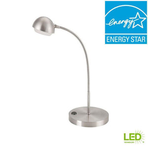18 in. Brushed Nickel LED Table Lamp Damaged Box-floor & table lamps-Tool Mart Inc.