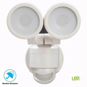 180 Degree White Motion Activated Outdoor Integrated LED Twin Head Flood Light Damaged Box-security & motion sensor lights-Tool Mart Inc.