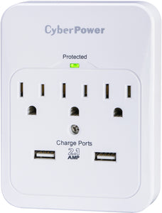 3 Outlet USB Wall Tap Surge Protector Damaged Package