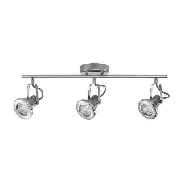 2 ft. 3-Light Brushed Steel LED Track Lighting Kit Damaged Box-bay & strip lights-Tool Mart Inc.