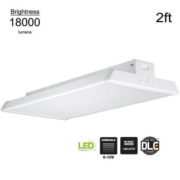 2 ft. 400-Watt Equivalent Integrated LED Dimmable White High Bay Light High Output 18,000 Lumens 5000K Daylight Damaged Box-Lighting-Tool Mart Inc.