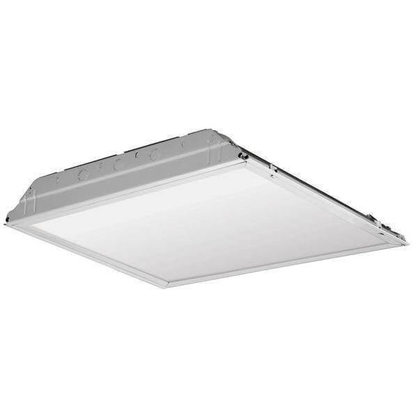 2 ft. x 2 ft. White LED Lay-in Troffer with Smooth White Lens Damaged Box-bay & strip lights-Tool Mart Inc.