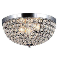 2-Light Chrome and Crystal Flush Mount Damaged Box-bay & strip lights-Tool Mart Inc.