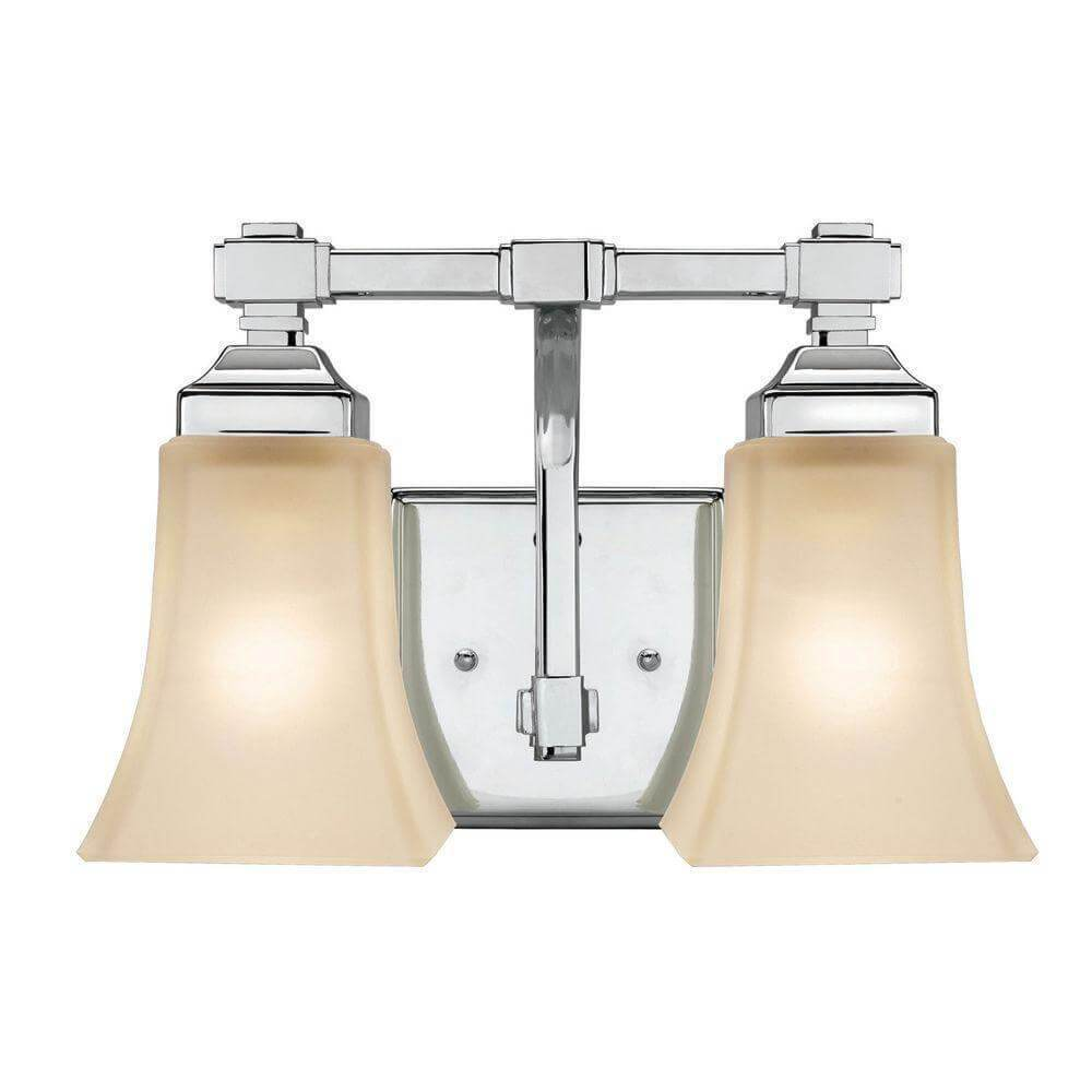 2-Light Chrome Bath Light Damaged Box-vanity lights-Tool Mart Inc.