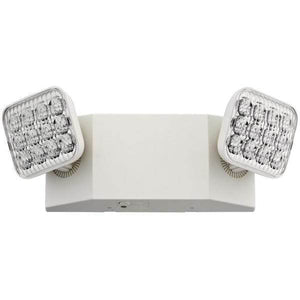 2-Light Plastic White LED Emergency Fixture Unit with Adjustable Optics Damaged Box-emergency lights-Tool Mart Inc.