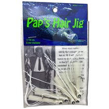 1/16 oz. Pap's Hair Jig 5 Pack - White Head/White Tail
