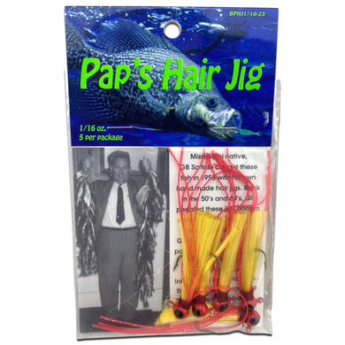 1/16 oz. Pap's Hair Jig 5 Pack - Red Head/Gold Tail