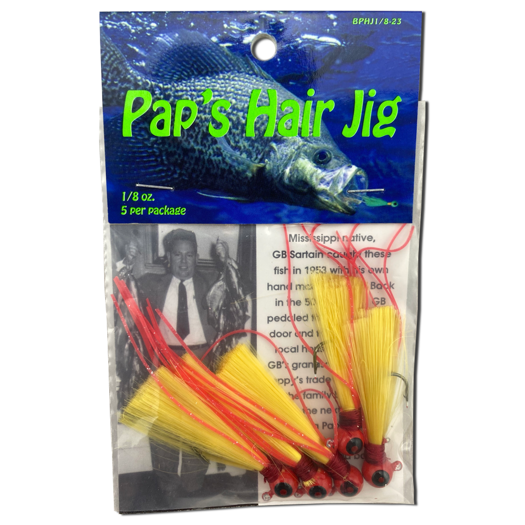 1/8 oz. Pap's Hair Jig 5 Pack - Red Head/Gold Tail