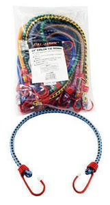 24 Inch 20 Pack Bungee Tie Downs-tie downs, chains, & straps-Tool Mart Inc.