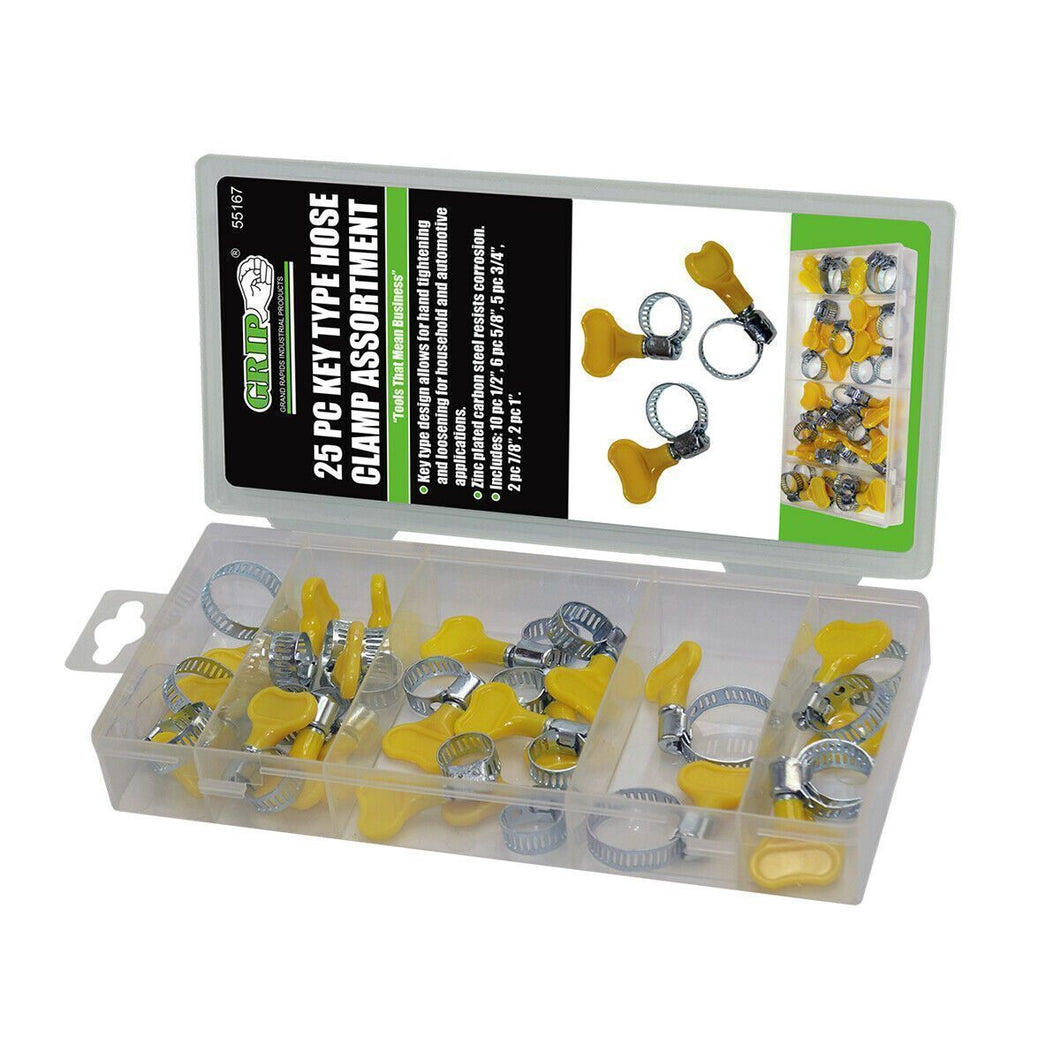 25 Piece Key Type Hose Clamp Assortment-miscellaneous-Tool Mart Inc.