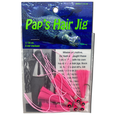 1/16 oz. Pap's Hair Jig 5 Pack - Pink Head/Pink Tail