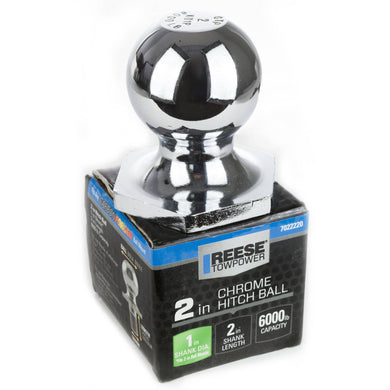 Reese 6000 Pound Reciever Chrome 2 Inch Hitch Ball