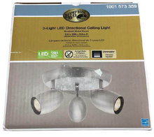 3 Light Brushed Nickel LED Dimmable Spot Light with Directional Head Damaged Box