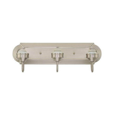 3-Light Brushed Nickel Wall Fixture Damaged Box-vanity lights-Tool Mart Inc.