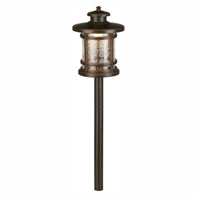3-Watt Oil Rubbed Bronze Outdoor Integrated LED Landscape Path Light with Crackled Shade-landscape, garden, & paths lights-Tool Mart Inc.