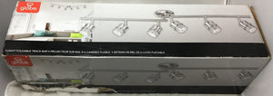 4 ft. Kearney 6-Light Brushed Nickel Foldable Track Lighting, Bulbs Included Damaged Box-Lighting-Tool Mart Inc.
