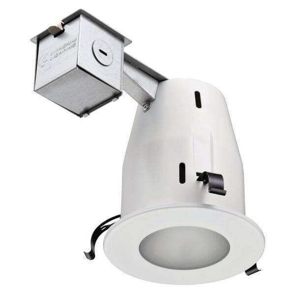 4 in. Matte White GU10 Glass Recessed Shower Kit Damaged Box-recessed fixtures-Tool Mart Inc.