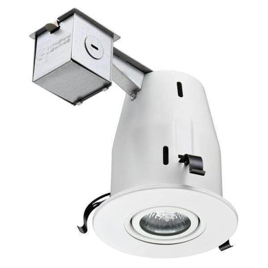 4 in. Matte White Recessed Gimbal Lamped LED Lighting Kit Damaged Box-recessed fixtures-Tool Mart Inc.
