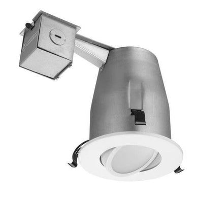 4 in. Matte White Recessed Gimbal LED Lighting Kit Damaged Box-recessed fixtures-Tool Mart Inc.