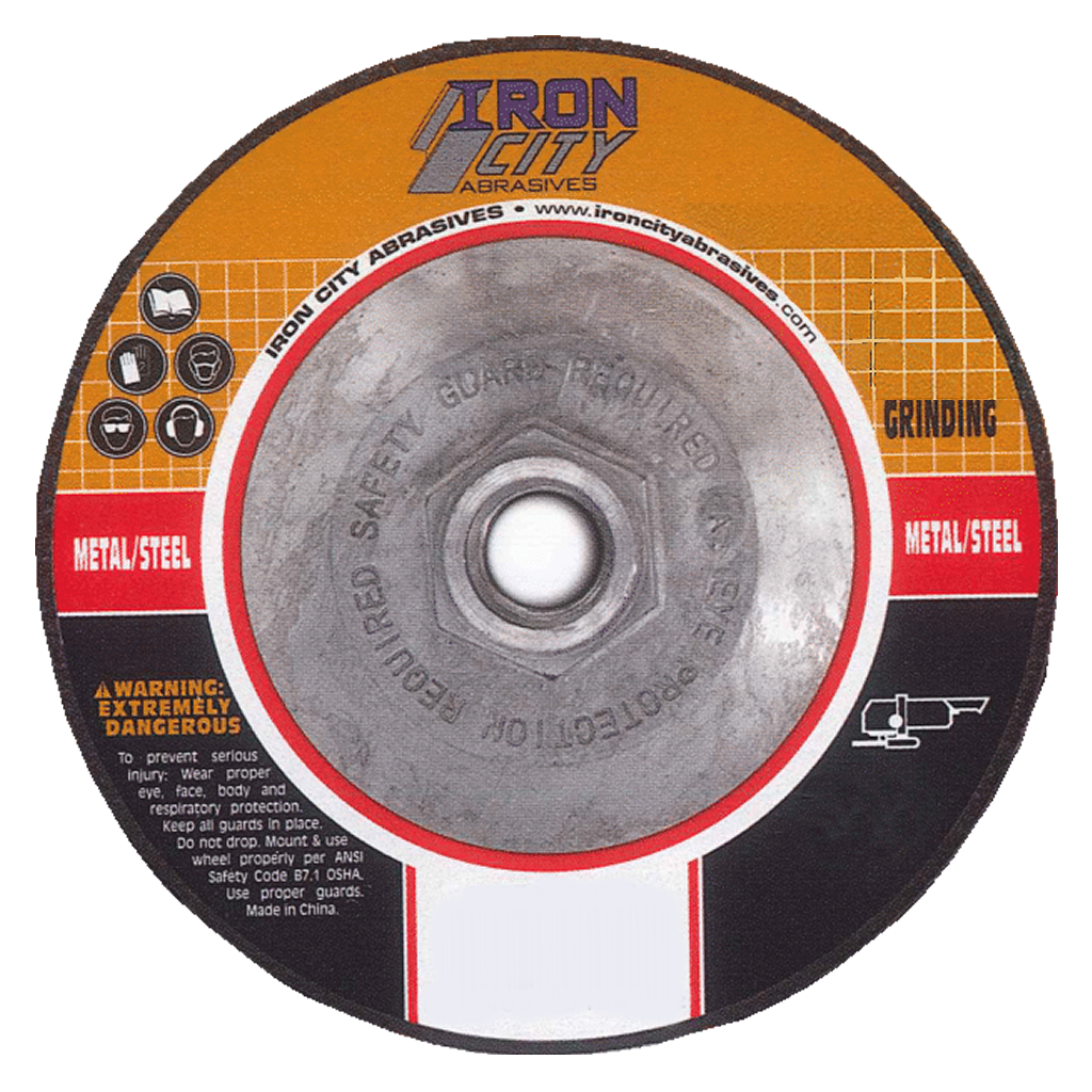 Metal/Steel Type 27 Grinding Wheel - 7 x 1/4 x 5/8-11