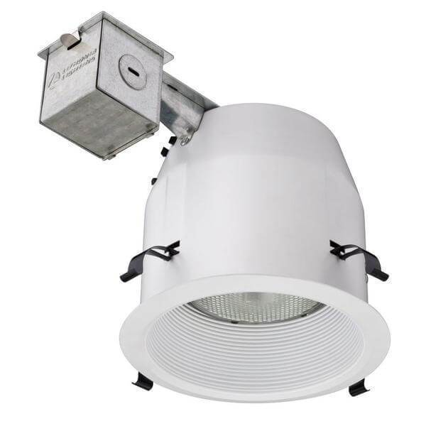 5 in. Matte White Recessed Baffle Light Kit Damaged Box-recessed fixtures-Tool Mart Inc.